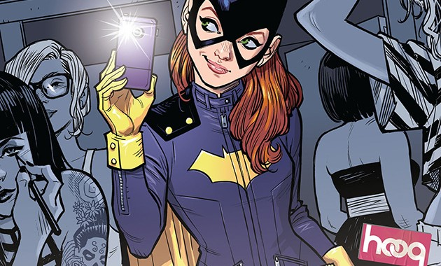Barbara Gordon goes undercover at Black Box to try and bust a hacker DJ and uses the selfie to her advantage.